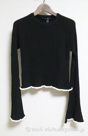 ZARAトランペットスリーブセーター(ブラック)