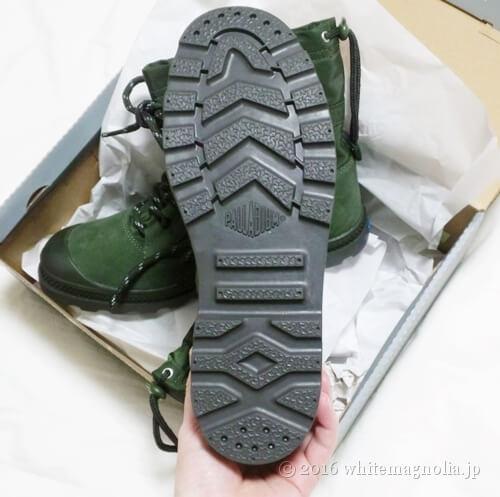 PALLADIUM(パラディウム)ハイカットスニーカーの靴底
