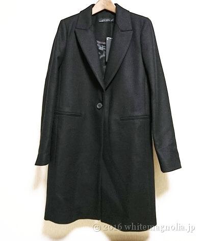 ZARAメンズ風デザインコート(ブラック)