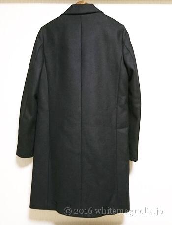ZARAメンズ風デザインコート(ブラック)背面