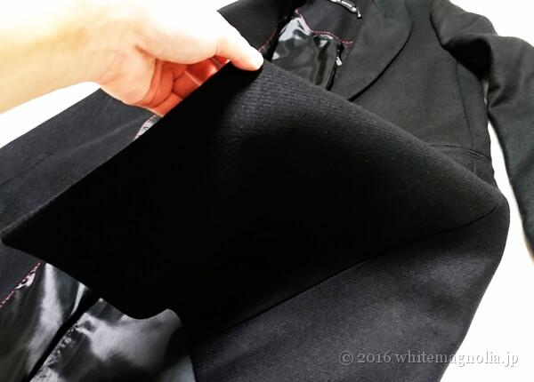 ZARAメンズ風デザインコート(ブラック)の生地の落ち感