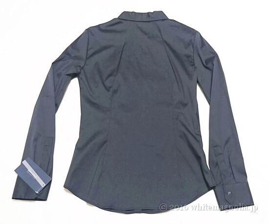 ZARAベーシックポプリンシャツ(ネイビー)の背面