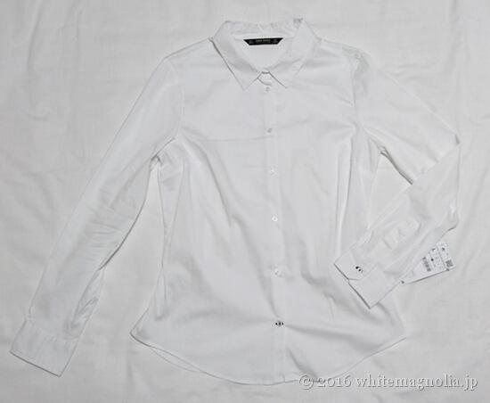 ZARAベーシックポプリンシャツ(ホワイト)