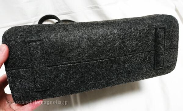 kakatooのフェルトトートバッグ(底)