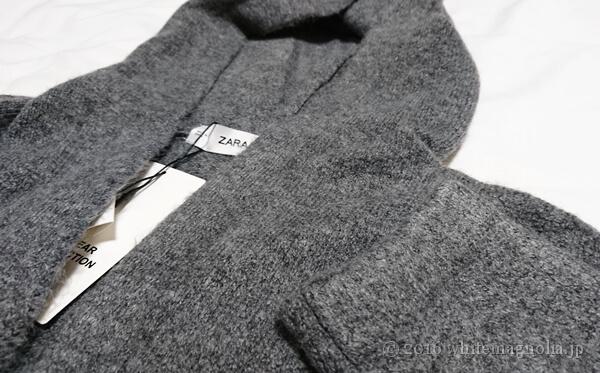 ZARA ロングフード付きジャケット(生地アップ)
