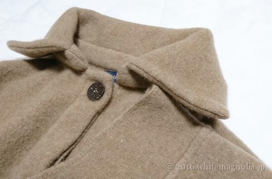 ZARA ハイカラーコート(襟元と袖口)
