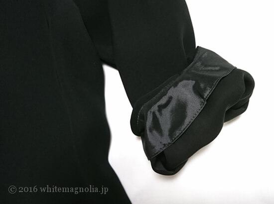 dinos ダブルクロス パフスリーブ プルオーバー(襟首と袖口)