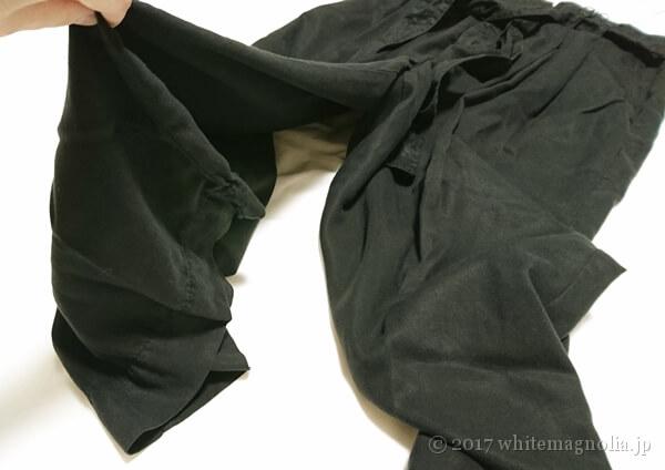 ZARAのリボン付きスカーチョ(落ち感)