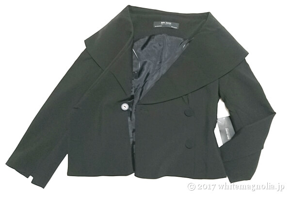 ZARAのダブルブレストVネックジャケット(内側)