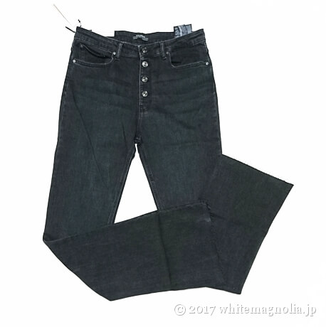 JEANS THE SKINNY FLARE BUTTON FLY