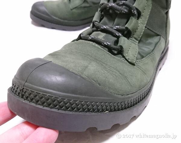 PALLADIUM(パラディウム)の防水シューズ(1年後・靴先)
