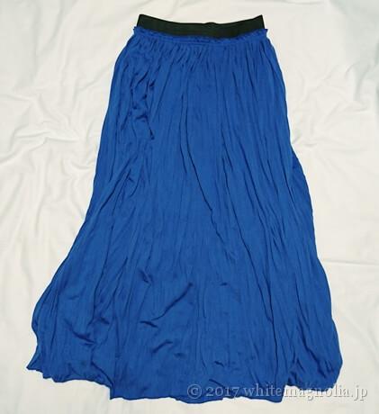 rananのマキシスカート(ブルー)