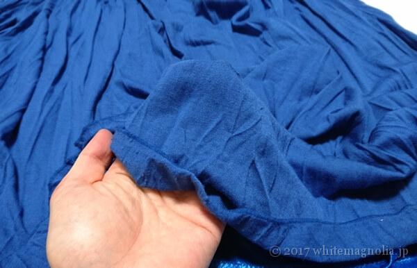 rananのマキシスカート(ブルー・透け感)