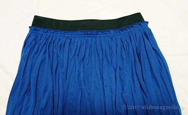 rananのマキシスカート(ブルー・ウエスト部分)