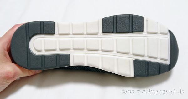 無印良品の軽量ニットスニーカー(靴底)