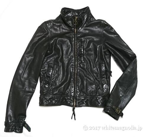 USEDレザージャケット(黒)