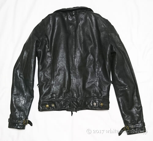 USEDレザージャケット(黒・背面)
