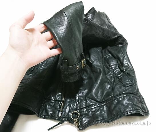 USEDレザージャケット(黒・柔らかさ)