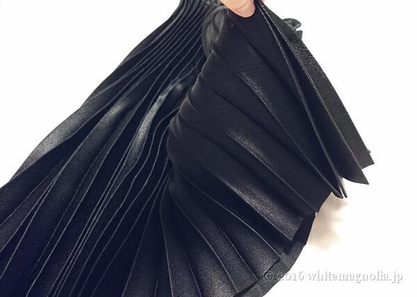 ZARA プリーツ入りミディスカート(ブラック・落ち感)