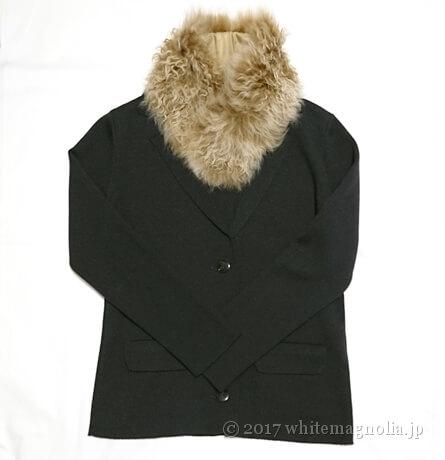 楽天スーパーセールで買ったムートンティペットとジャケットのコーデ